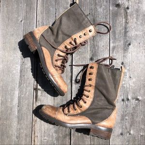 Steve Madden Combat Boots Lace Up